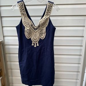 Lilly Pulitzer Largo Shift Dress in Navy blue